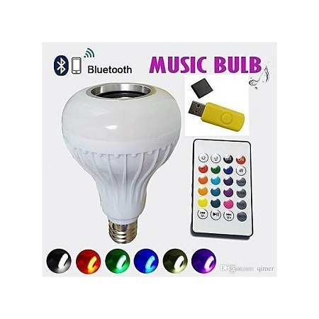 LED Music Bulb With Bluetooth,Music Player With FREE USB Disk.