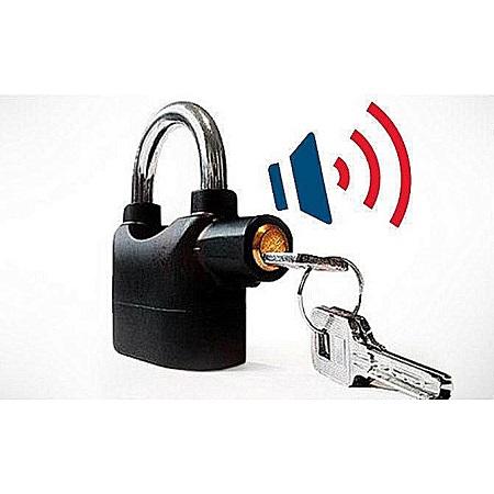 Kinbar Alarm Padlock Lock - Black