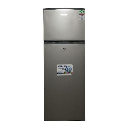 Bruhm BFD 200MD - Double Door Refrigerator, 220L - Inox