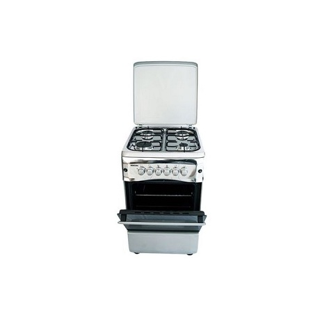 Bruhm BGC 5040NX, 4 Gas Standing Cooker + Gas Oven - Metallic Grey