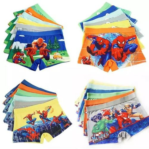 Fashion 6pcs Cartoon Themed Boys Cotton Shorts Underwear-M