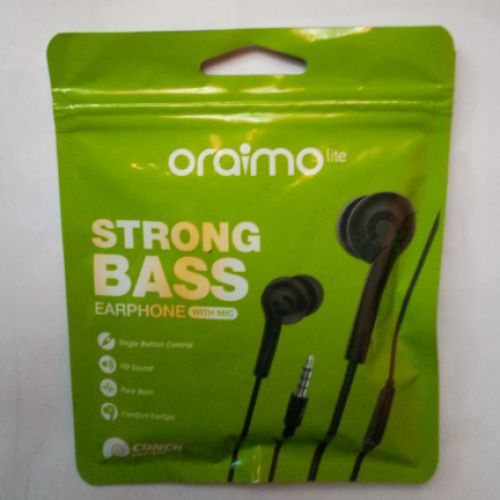 Oraimo Strong Pure Bass Earphones With Mic