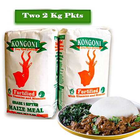 Kongoni Grade 1 Sifted Maize Meal 2 Kg -2 Pieces