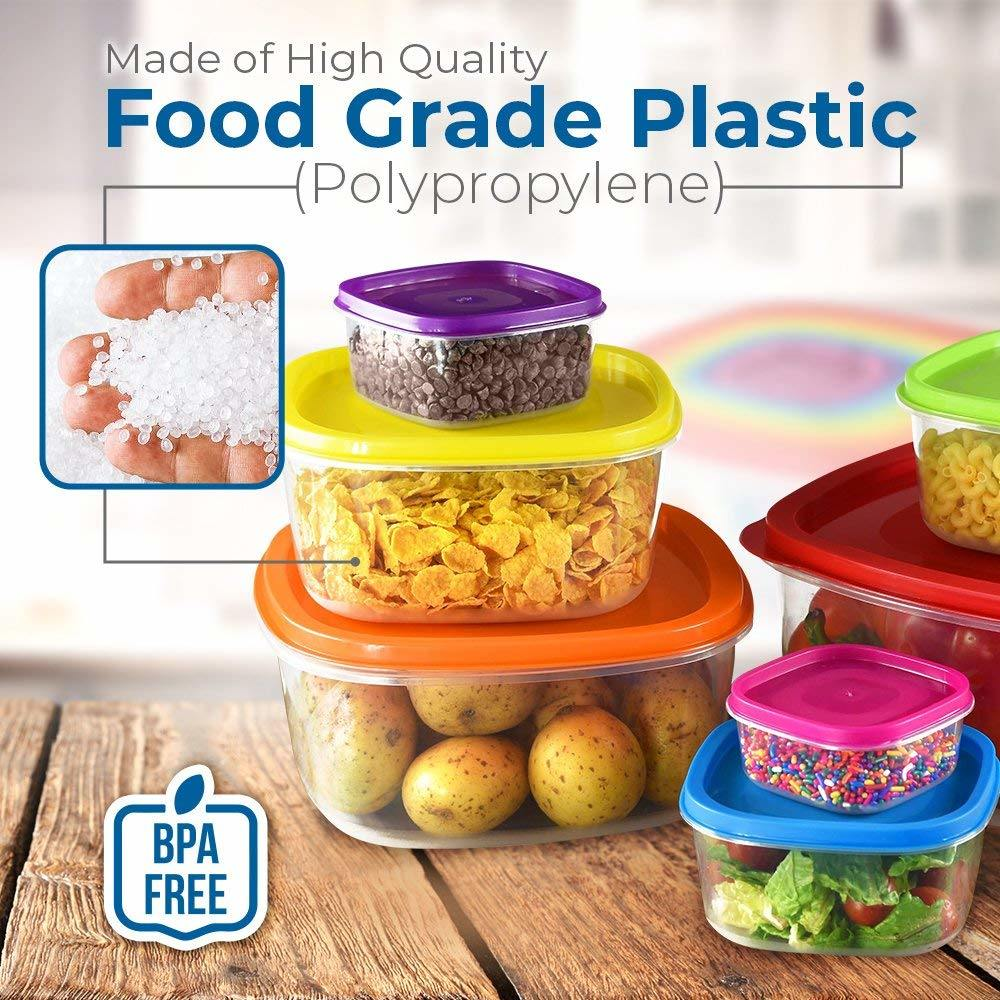 7pc multicolour plastic bowls