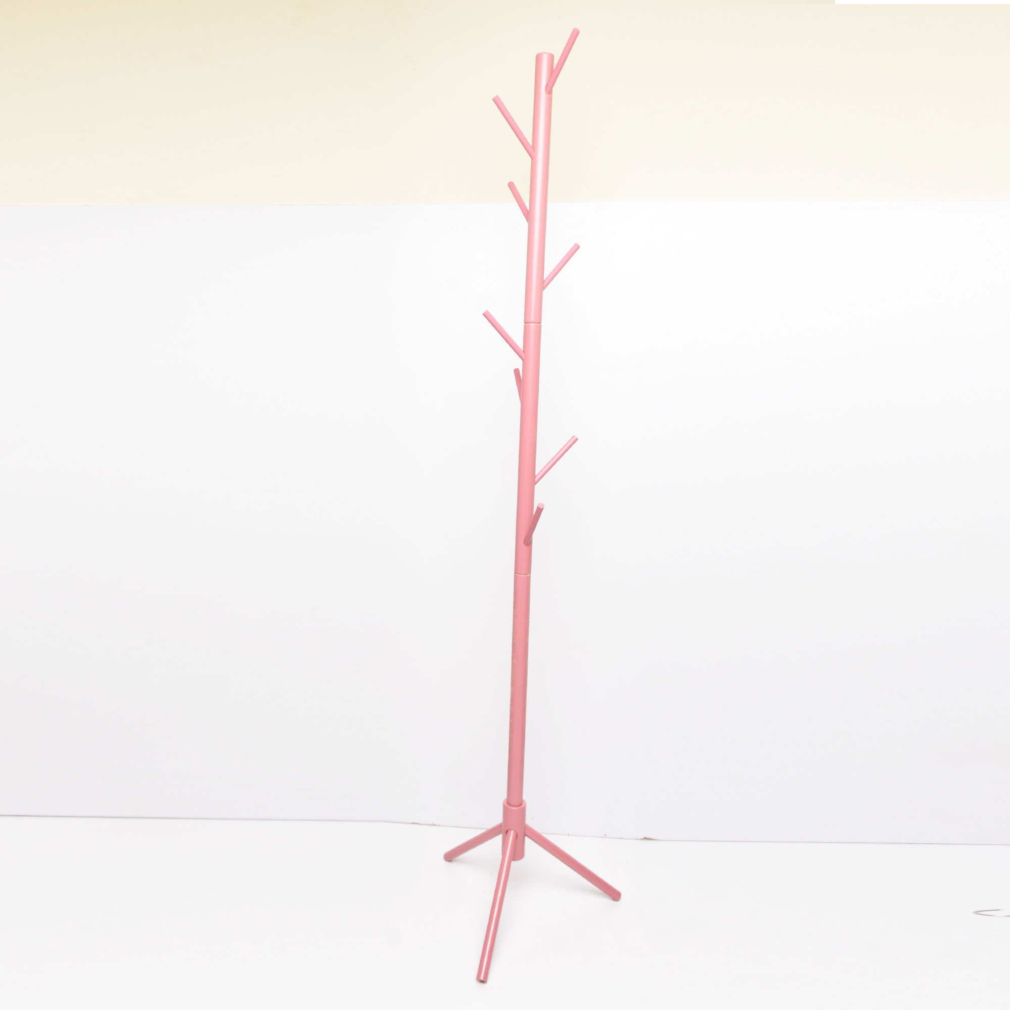 8hook Bamboo tree coat organizer pink