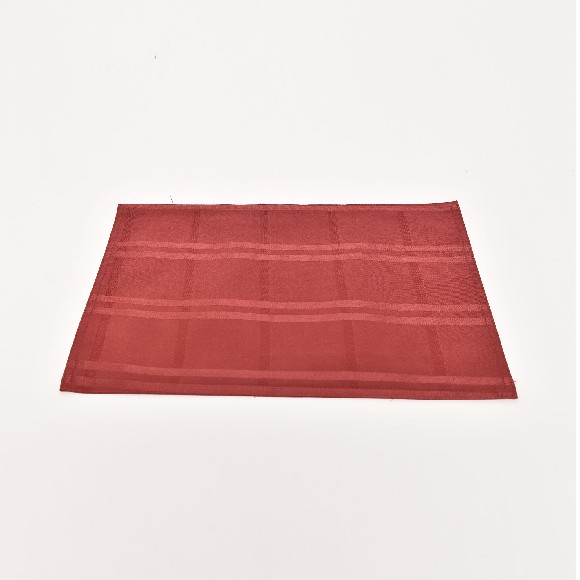 Cotton Linen Tablemat Maroon 4 pcs