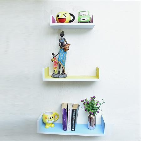Floating Shelves U Shaped Multicolour Small