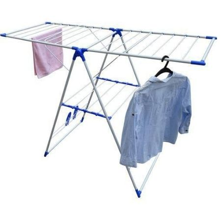 Outdoor Portable Cloth Hanger Blue Steel And Plastic