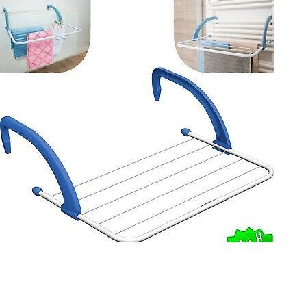 Portable Drying Rack Tenderero White&blue Plastic And Steel