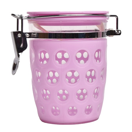 Sugar Canister Pink Acrylic Small
