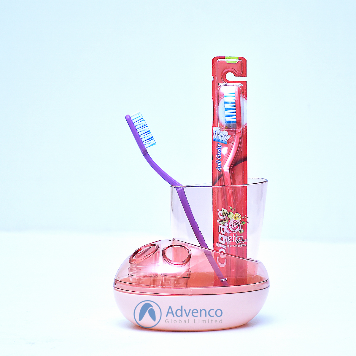 Toothbrush Holder 3 Holes Red Acrylic