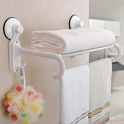 multifunctinal towel shelf or sunction cup rack