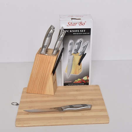 Starbo 8 Pieces Silver Knife Set