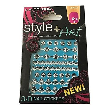 L.A. Colors 3D Nail Stickers - Nail Strips
