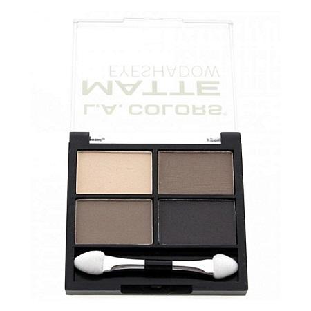 L.A. Colors 4 Color Matte Eyeshadow - Matterific