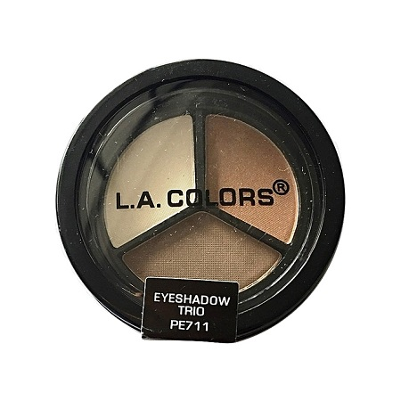 L.A. Colors Eyeshadow Trio - White Ice/Bronzed Beauty/Chocolate BrownieWhite Ice/Bronzed Beauty/Chocolate Brownie
