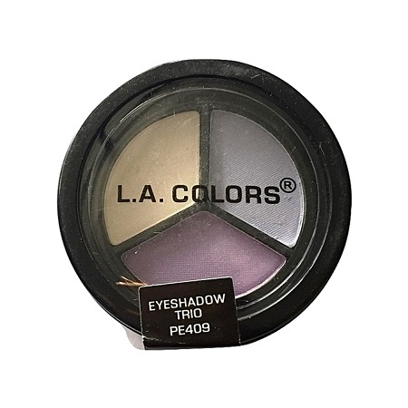 L.A. Colors Eyeshadow Trio - Snow White/Lilac Mist/Royal Violet