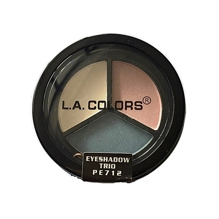 L.A. Colors Eyeshadow Trio - White Ice/Baby Pink/Tidal Wave
