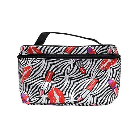 L.A. Colors Fashion Printed Cosmetic Bags with Straps - Striped