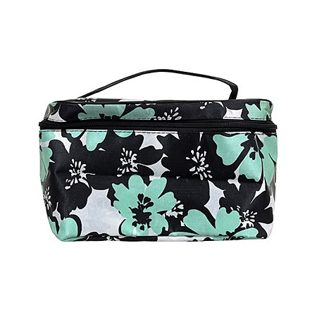 L.A. Colors Fashion Printed Cosmetic Bags with Straps - Green