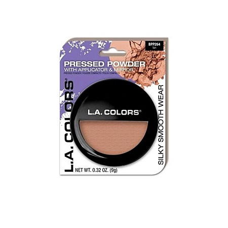 L.A. Colors Pressed Powder With Applicator - Tan, 0.32 Oz
