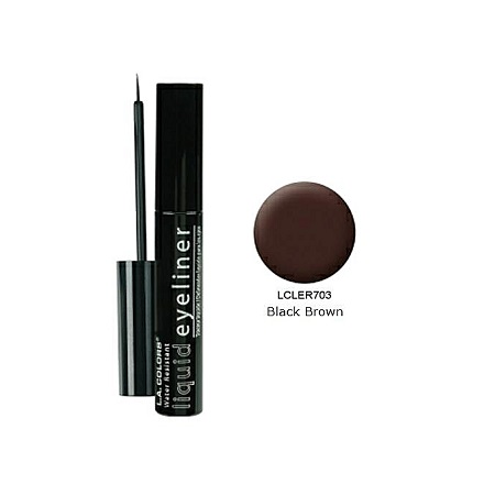 L.A. Colors Smudge Proof Liquid Eyeliner (7ml) - Black Brown