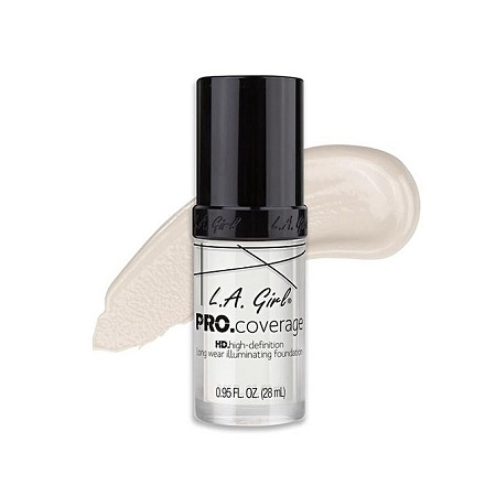 L.A GIRL HD Pro Coverage Illuminating Foundation - White Lightener, 0.95 Fl. Oz