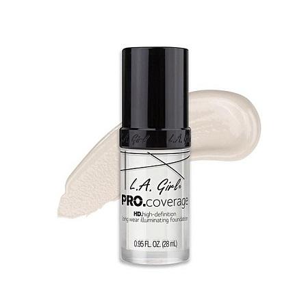 L.A GIRL HD Pro Coverage Illuminating Foundation - White Lightener, 0.95 Fl. Oz