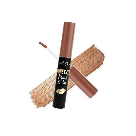 L.A GIRL Metal Liquid Lipstick - Champagne, 0.24 Fl. Oz.