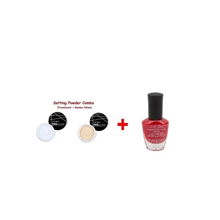L.A Girl Pro High Definition Setting Powder Combo (Translucent & Banana Yellow Powder)