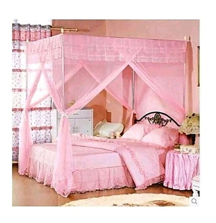 Mosquito Net With metallic stands-PINK