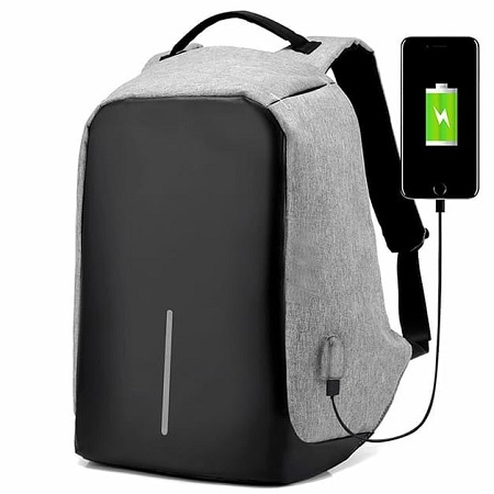 Men Anti-Theft USB Charging Port Business Backpack