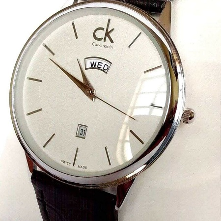 CK Watch with leather strap