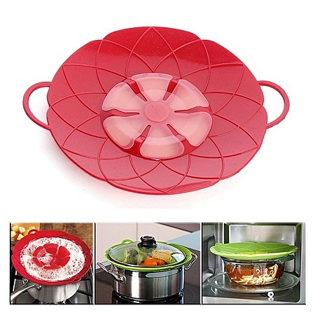 Bloom Multi-Purpose Lid Silicone Cover Spill Stopper For Pan Cooking Tools