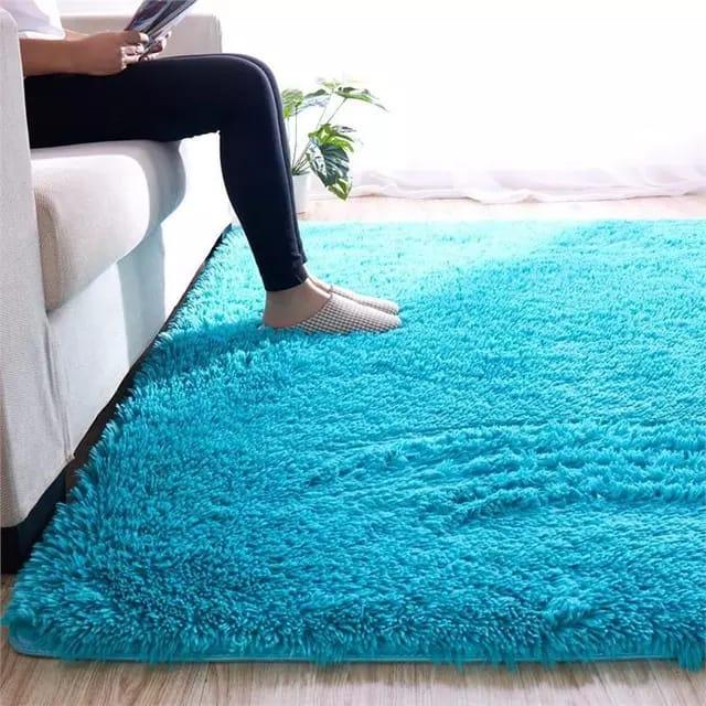 Light Blue-Shaggy Carpet 5*8