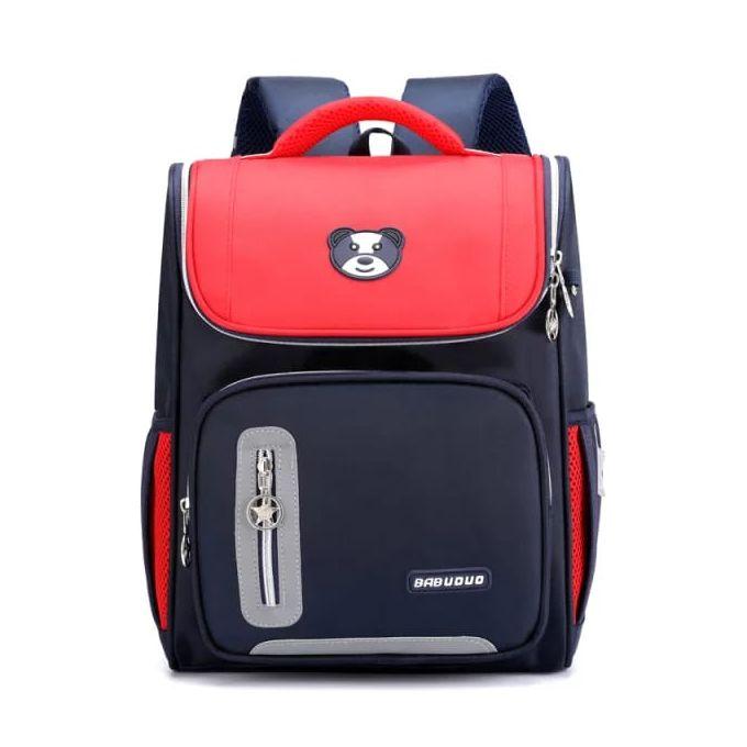 Fashion School Bags- Navy Blue /red