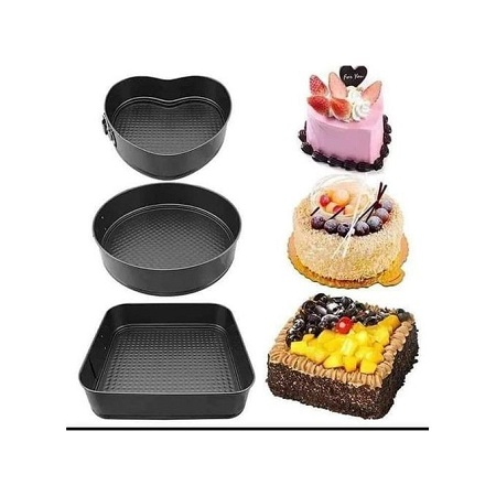 Baking Tins -A Set Of 3 Different Shapes
