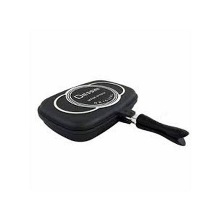 Dessini Aluminum Two-Sided Double Grill Non-stick Pressure Pan 36cm - Black