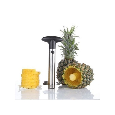 Pineapple Peeler Corer Slicer - Black & Silver