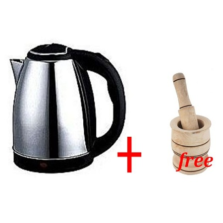 Scarlet Cordless Electric Kettle Plus FREE Pestel And Mortar