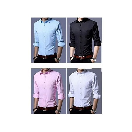 Turkey 4 Pack Of 100% Cotton Slim Fit Shirts