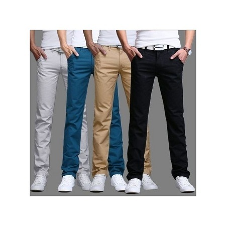 4 pack Soft Khaki - Black, Beige, Blue & OFF-White