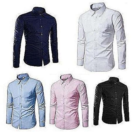 5 Pack Turkey shirts Navy blue,white,sky blue,pink,black