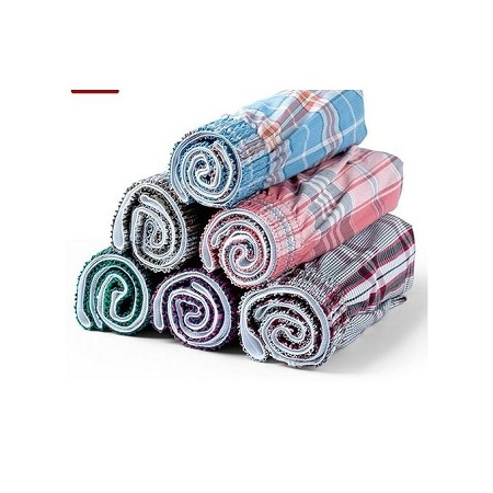 6pcs Men Checked Cotton Boxers(colors may vary)