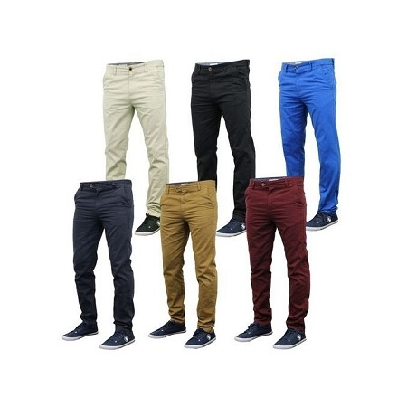 6 Pack Khaki Pants Mens+free pair of socks