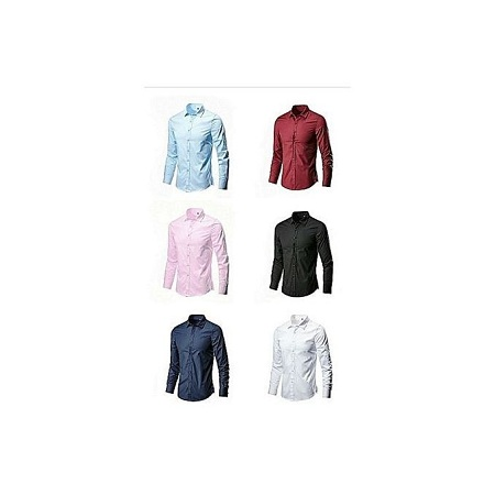 6 Pack Of Official Men Shirts Slim fit 100% Cotton