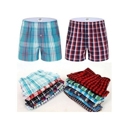 Boxer Shorts 6 Pieces-Pure Cotton-(Colors may vary)