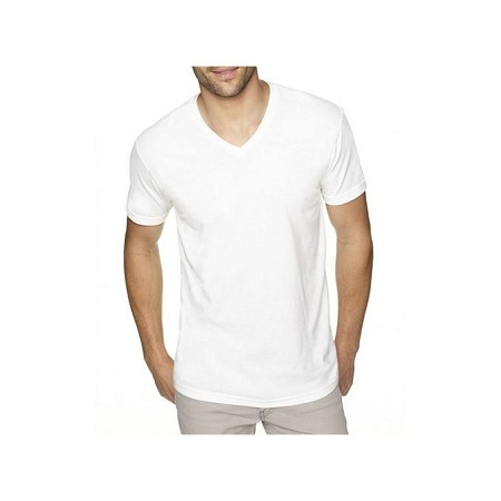Casual/comfortable Cotton V-shaped t shirts for men