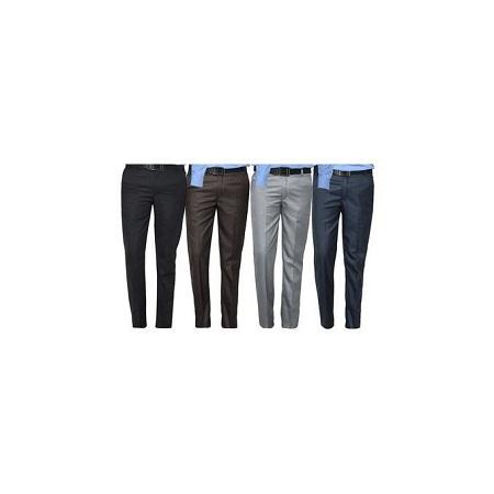 4 Pack-Turkey Men's Formal Office Trousers Pants