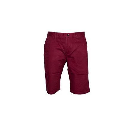 Men Khaki shorts-Maroon+Free pair of socks(Any color)
